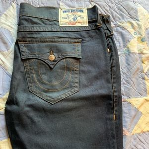 True Religion 46W dark blue jeans